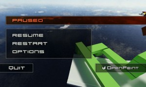 Jet Car Stunts Lite - Paused screen