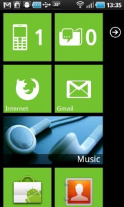 Launcher 7 with Default Android Green