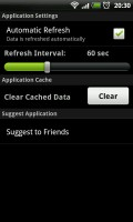 LiveScore - Application settings