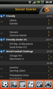 LiveScore - Coverage includes friendlies, under 21s and more
