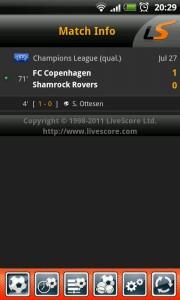 LiveScore - Match info