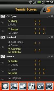LiveScore - Tennis scores