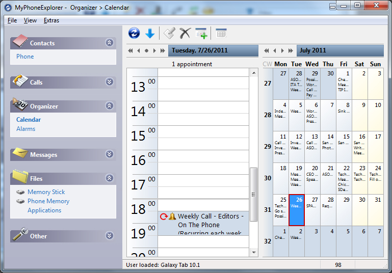 Myphoneexplorer desktop software calendar androidtapp for Computer planner software
