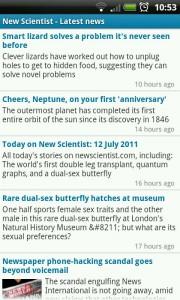 New Scientist - Latest News list
