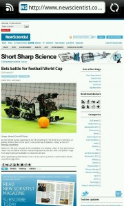 New Scientist - Robots play soccer
