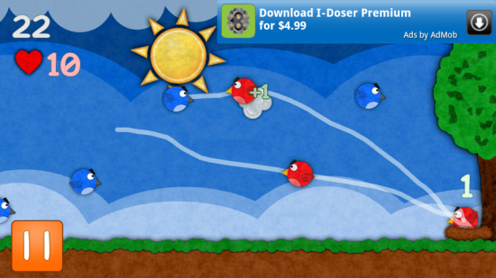 Pocket Pigeons – a Good Attempt at Dethroning Angry Birds but far from it