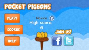 Pocket Pidgeons Main Screen