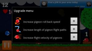 Pocket Pidgeons Upgrades