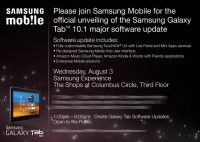 Samsung Galaxy Tab 10.1 Major Software Update Event