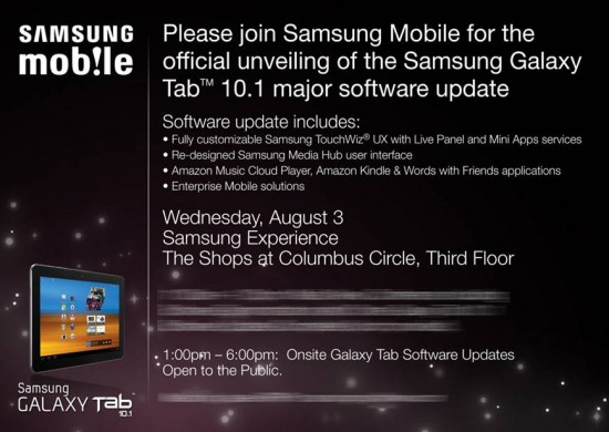 Samsung Galaxy Tab 10.1 Gets Major Update with Personal Service August 3rd