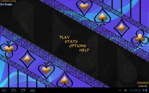 Solitaire Main on Galaxy Tab