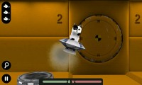 Spacecat (3D) - Grey landing pads will refuel you.