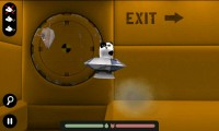 Spacecat (3D) - In-game view. Guide the saucer through the tunnels. Get the mouse!
