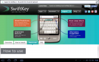 Swiftkey Tab Support Page