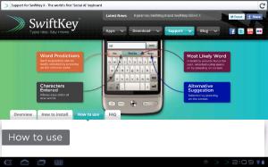 Swiftkey Tab Support Page