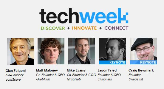 TechWeek 2011 in Chicago features Keynote CEOs from comScore, GrubHub, 37signals, Craigslist & more!