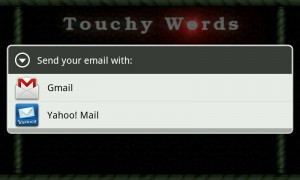 Touchy Words - Contact
