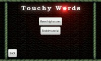 Touchy Words - Settings