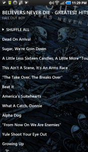 UberMusic Album Track List 1
