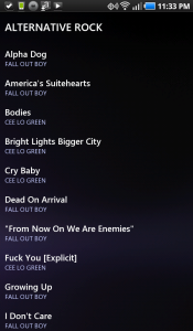 UberMusic Playlist by Genre