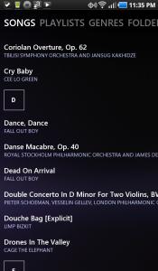 UberMusic Song List
