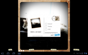 retro camera share tab