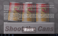 shoot the cans help