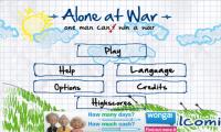 Alone At War - Menu