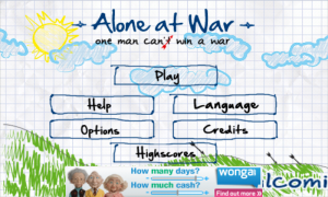 Alone At War - Menu