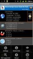 Androsensor Accelerometer