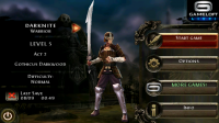 Dungeon Hunter 2 Main Menu