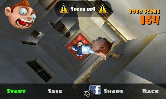 Falling Fred a Falling Game with Blazing 3D & Dark Humor
