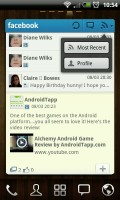 GO FBWidget - Can switch between Most Recent and Profile views