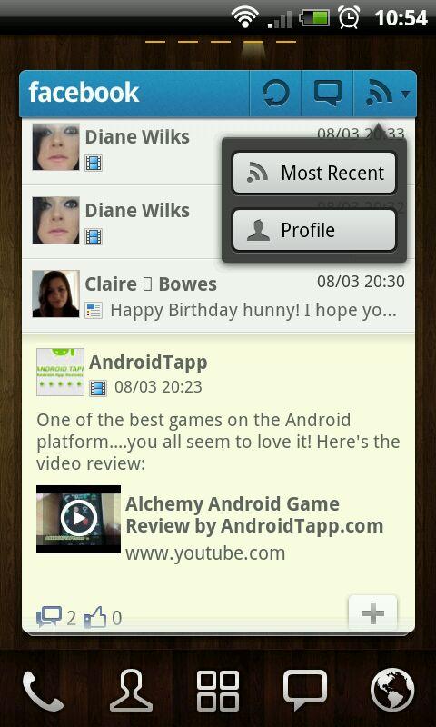 GO FBWidget – Android Widget to Access Facebook for GO Launcher EX