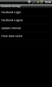 GO FBWidget - Settings screen
