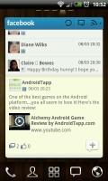 GO FBWidget - Timeline view