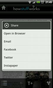 HowStuffWorks - Sharing options