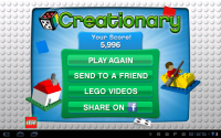 LEGO Creationary Game Over Scores