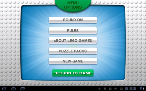 LEGO Creationary Menu