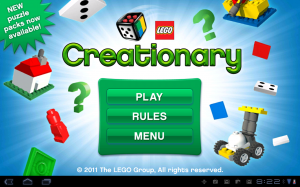LEGO Creationary Start Screen