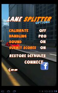 Lane Splitter Options