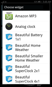 Launcher 7 Add Android Widgets