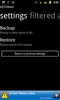 Launcher 7 Backup and Restore Settings