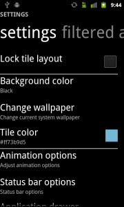 Launcher 7 Main Settings
