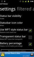 Launcher 7 Status Bar Settings