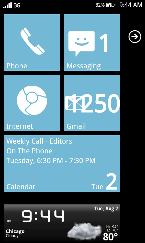 Launcher 7 – Customize your Android phone to look like Attractive Windows Phone 7