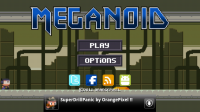 Meganoid Title Screen