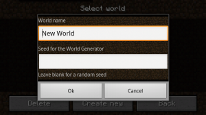 Minecraft New World Generator