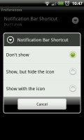 MySettings - Notification bar shortcut settings