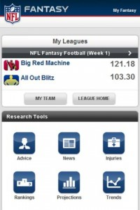 NFL.com Fantasy Football 2011 My Leagues